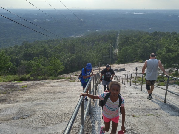 NJ Fam Going Up Stone Mountain