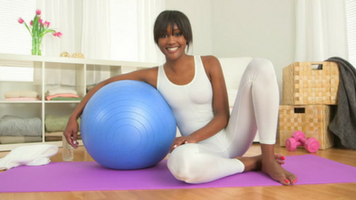 Ball exercise for balance, strength and flexibility.