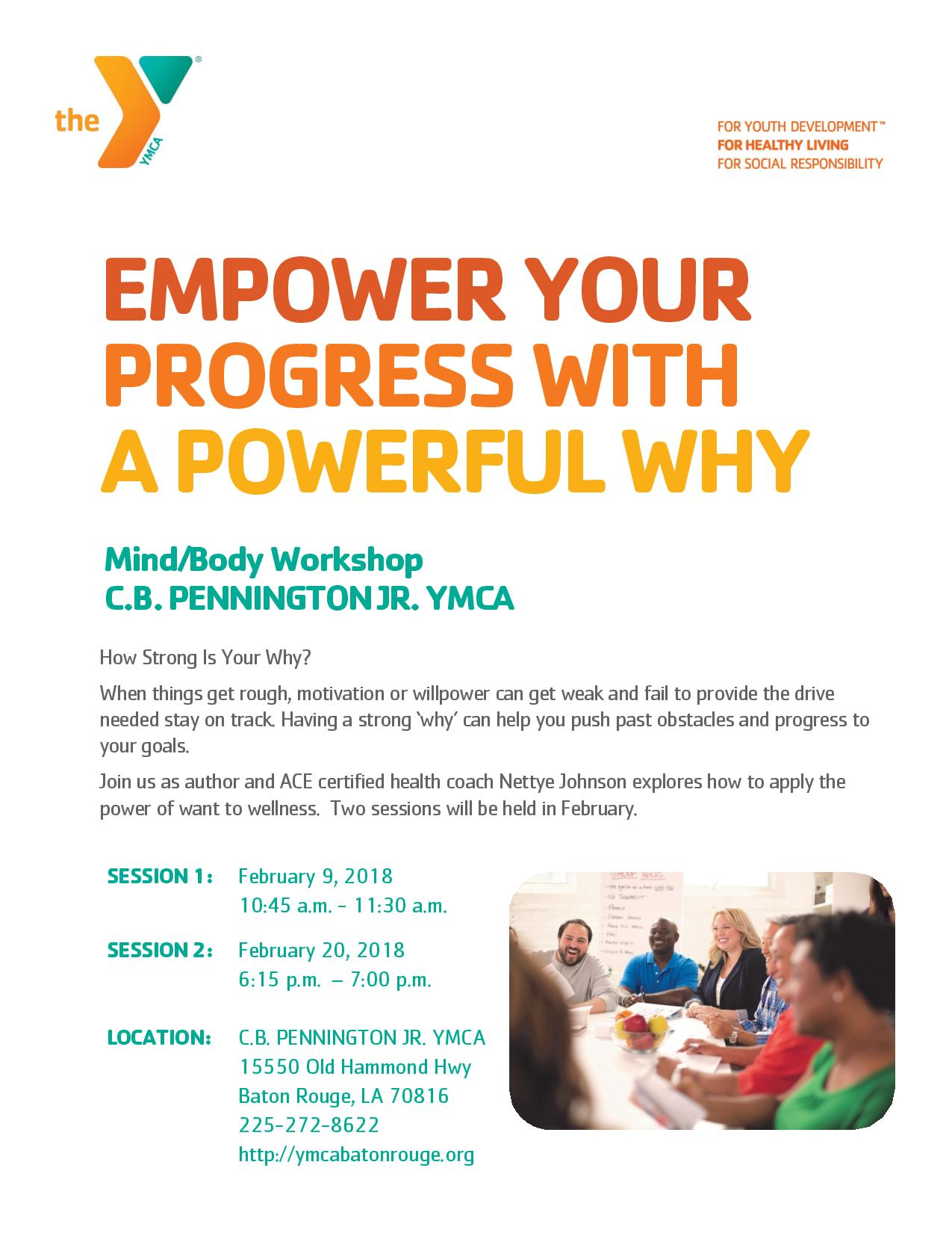 YMCA Mind Body Workshop